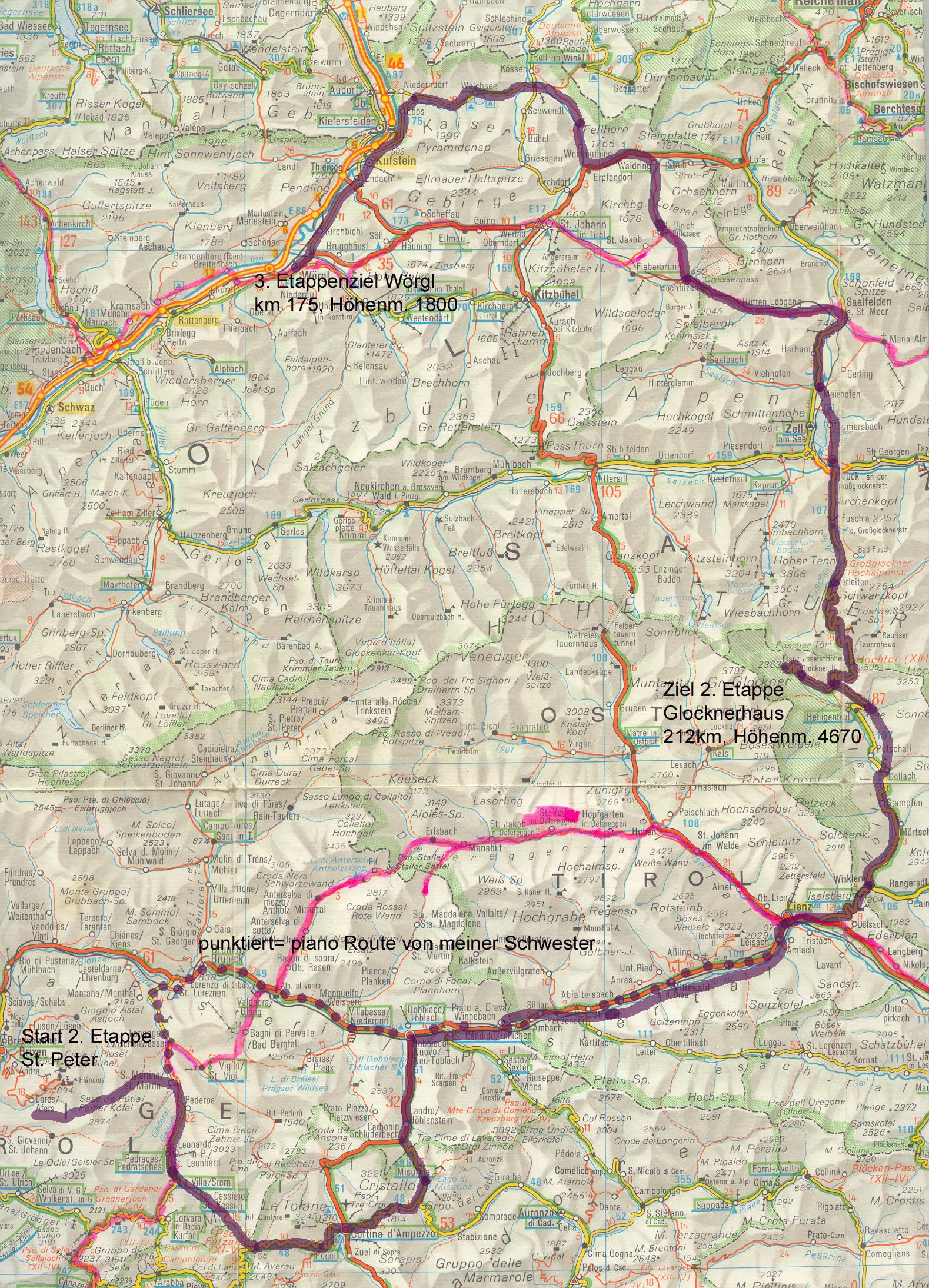Großglockner Karte.13 Karte 2 Cortina Grossglockner